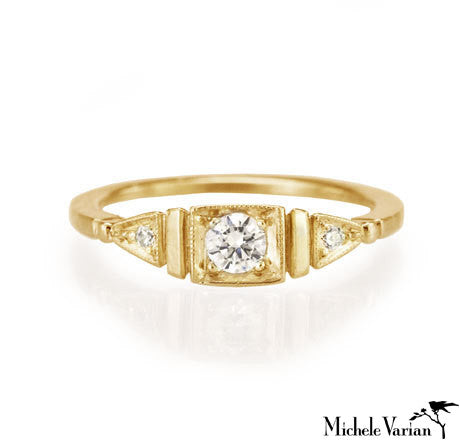 Gold Deco Ella Ring