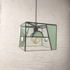 Deco-Inspired Leaded Glass Pendant