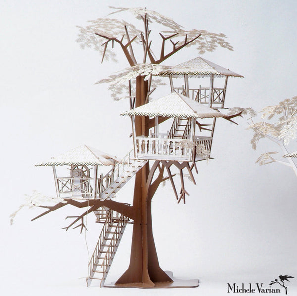 Tiki Tree House 3D Model Kit - Deluxe