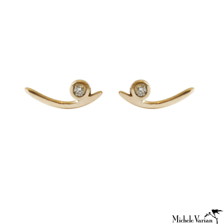 Gold Arch Studs