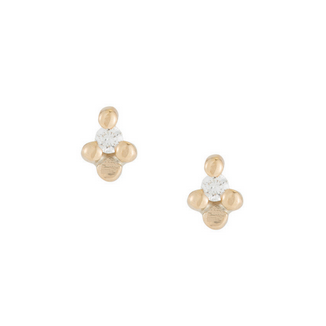 Diamond Flora Stud Earring