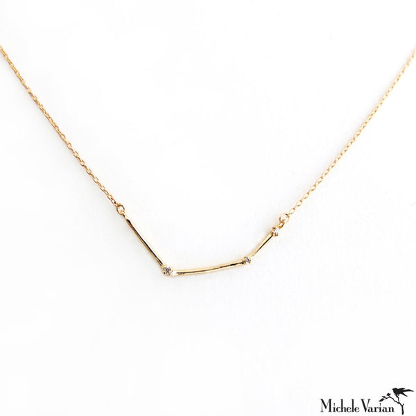 Diamond Constellation Gold Necklace