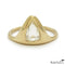 Pear Shape Diamond Gold Ring