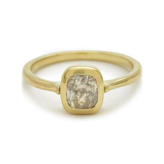 Rosecut Diamond Shape #7 Gold Ring
