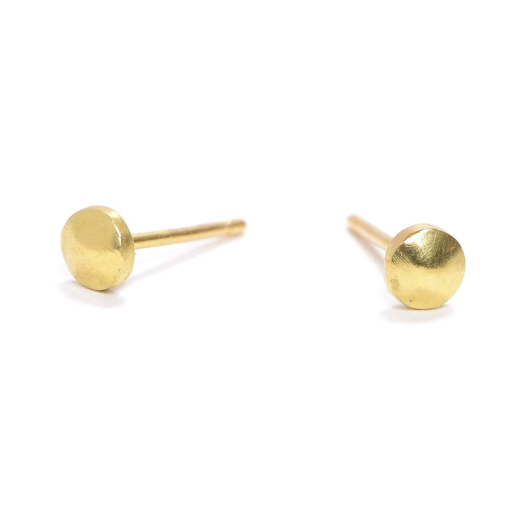 Tiny Gold Nugget Stud Earring