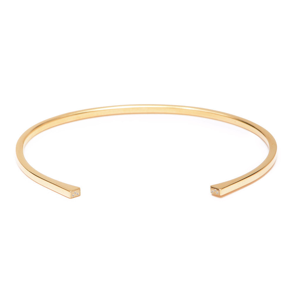 Gold Open Arrow Cuff Bracelet