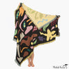Folk Figure Patterned Blanket