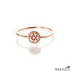 Pave Diamond Rose Gold Disc Ring