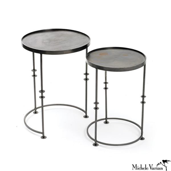 Iron Spindle Nesting Tables Set of 2