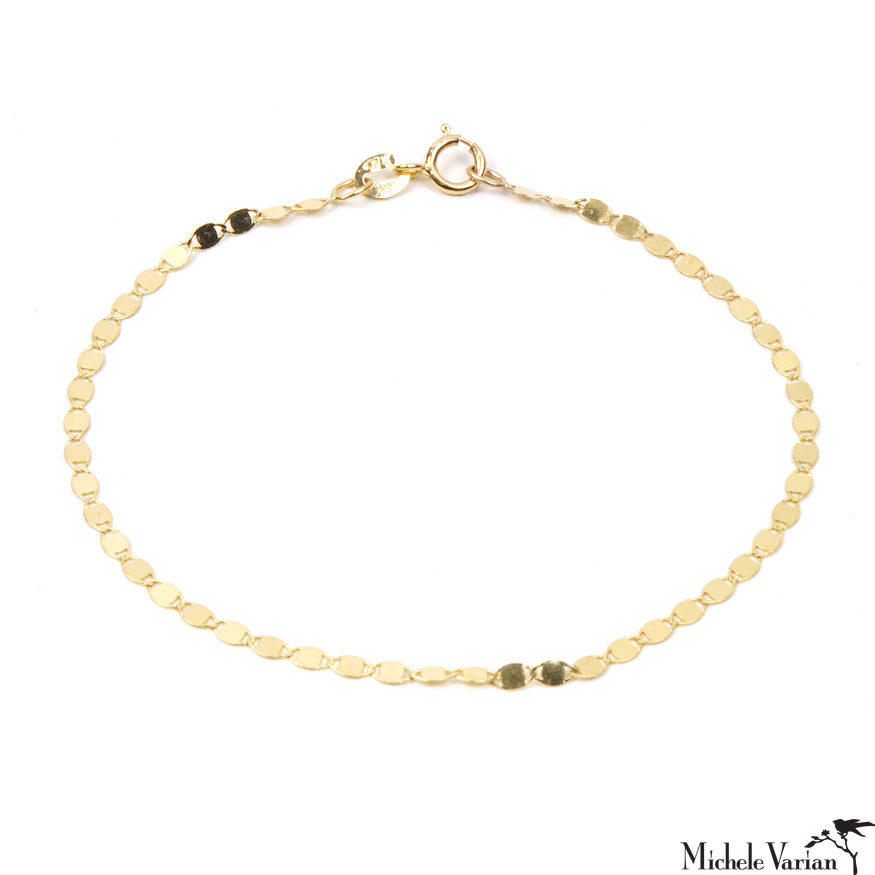Disco Reflection Gold Bracelet