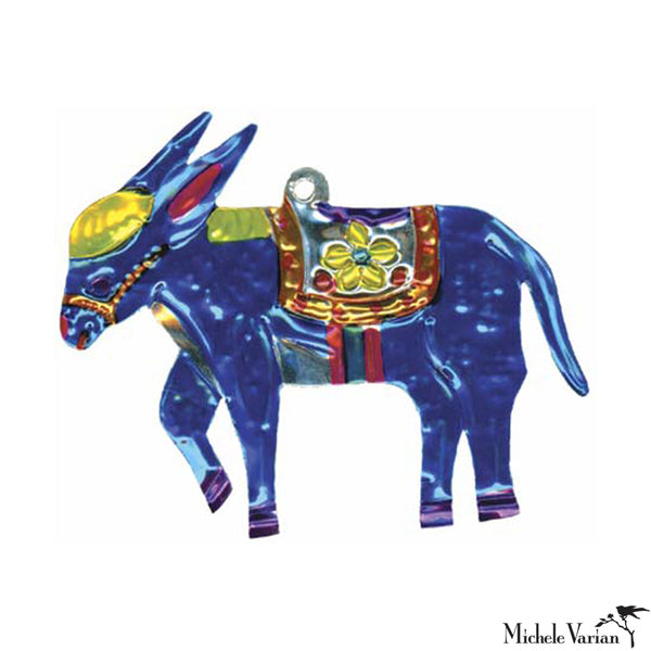 Donkey Tin Ornament