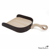 Leather and Wood Dustpan
