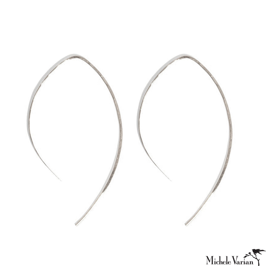 Silver Wishbone Hoops
