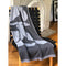 Reversible Ebb and Flow Carn Knitted Blanket Gray