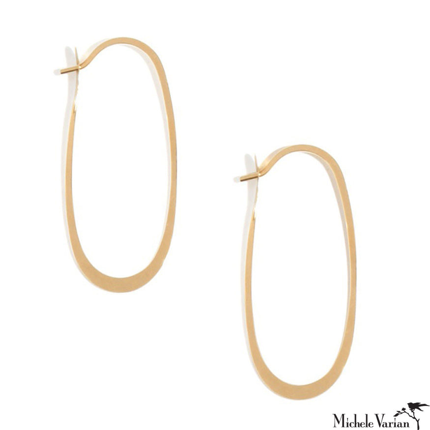 Eliptical Gold Hoops