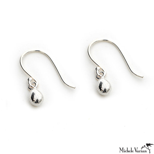 Sterling Silver Egg Earrings