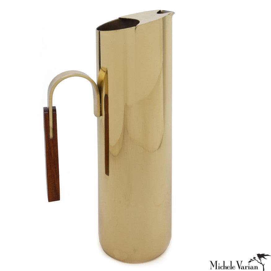 Retro Ellipse Brass Carafe