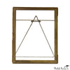Embossed Brass Hinged Shadow Frame
