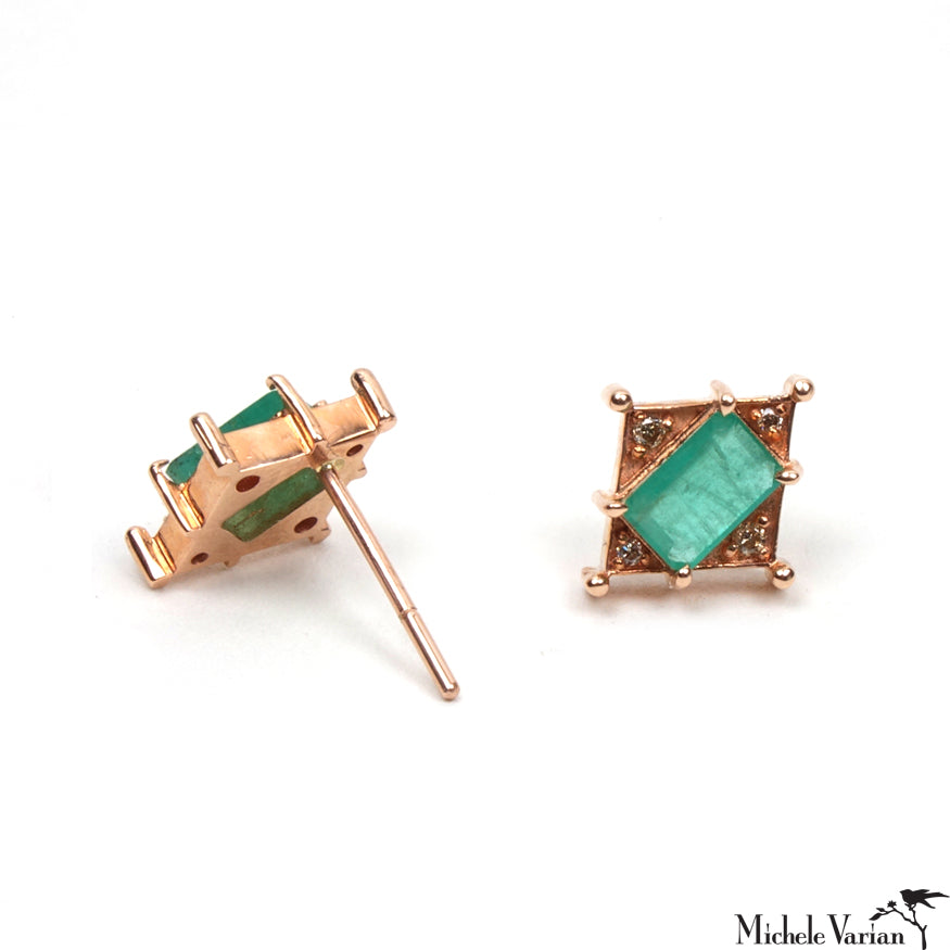 Art Deco Emerald Earrings