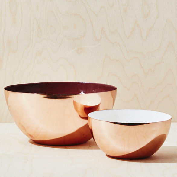 Copper Color Enamel Stacking Bowls