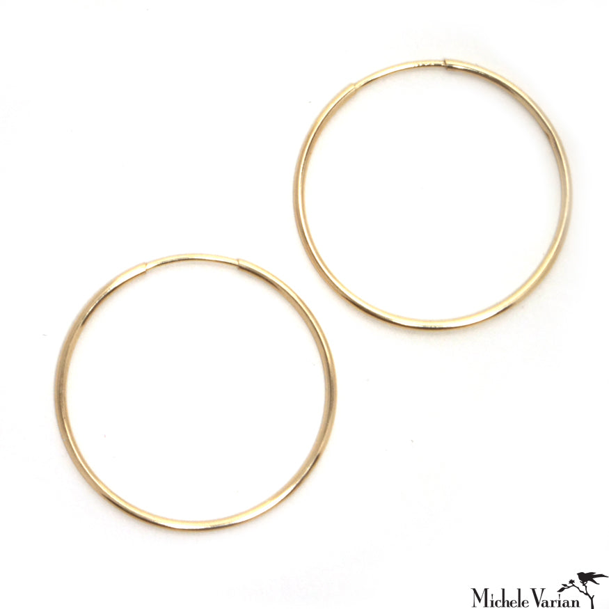 Large Endless Gold Hoops