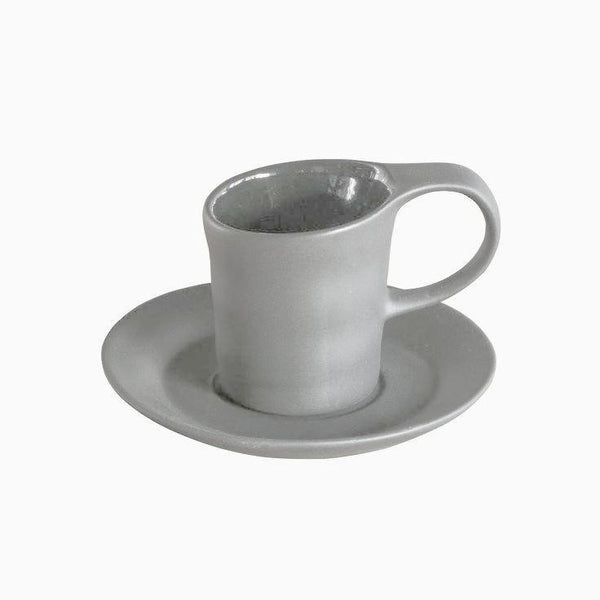 Matte Porcelain Espresso Grey Set of 4
