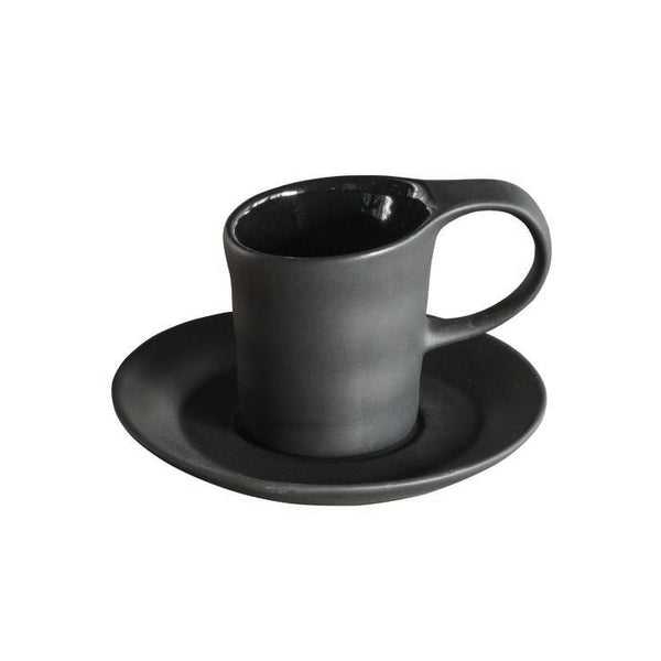 Matte Porcelain Espresso Black Set of 4