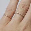 Ultra Thin Yellow Gold Eternity Band