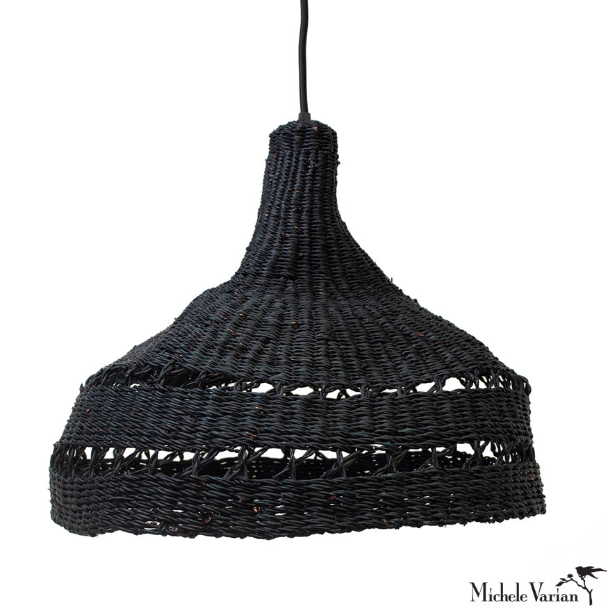 Black Atelier Woven Grass Pendant Light