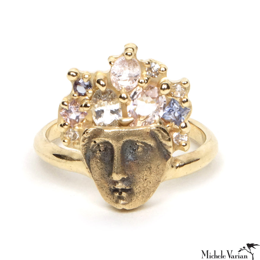 Goddess Gold and Sapphires Ring