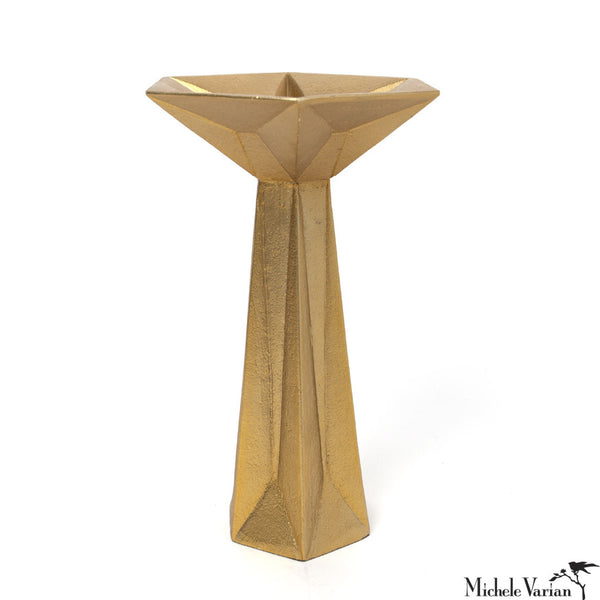 Faceted Candlestick Holder