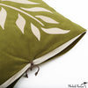 Ultra Suede Applique Pillow Fern Moss 20x20