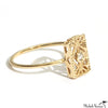 Gold Lace Deco Ring