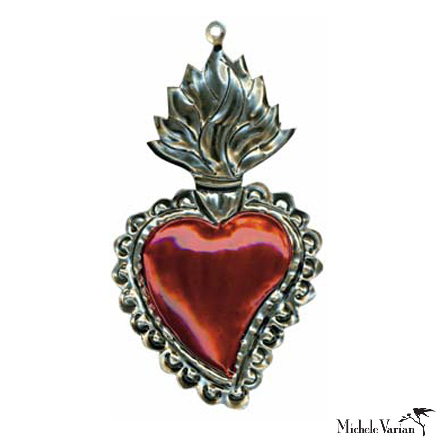 Flaming Heart Ornament