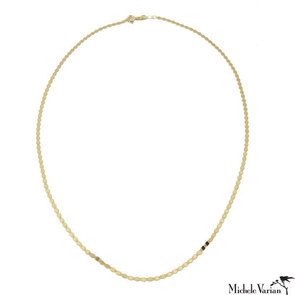 Disco Reflection Gold Necklace