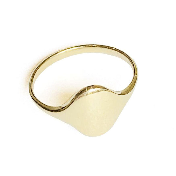 Flat Gold Signet Ring