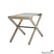 Folding Wood Canvas Stool Dark Ash