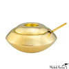 Polished Brass Sugar Dish with Spoon