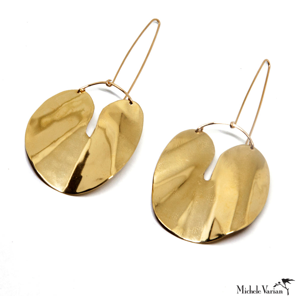 Forme Earring Brass with 14K Gold