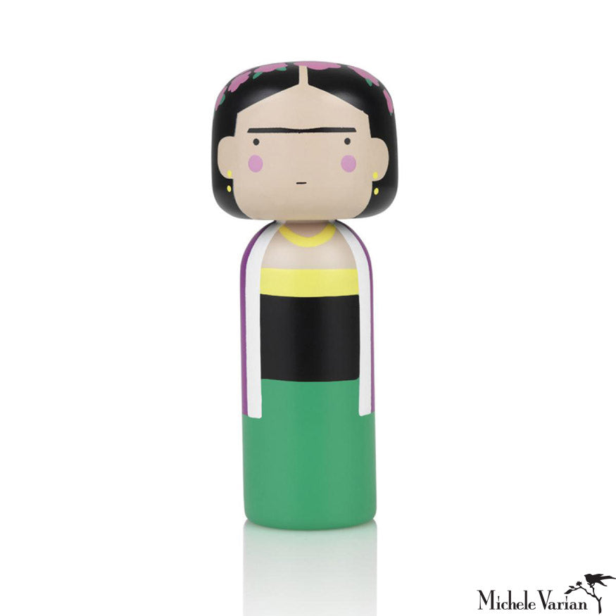 Frida Hand Painted Kokeshi Doll