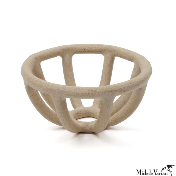 Stoneware Cage Bowl Small