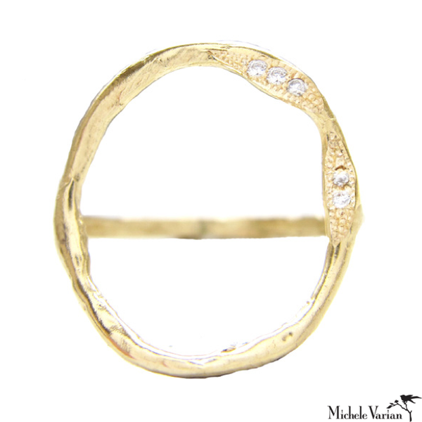 Full Circle Diamond Gold Ring