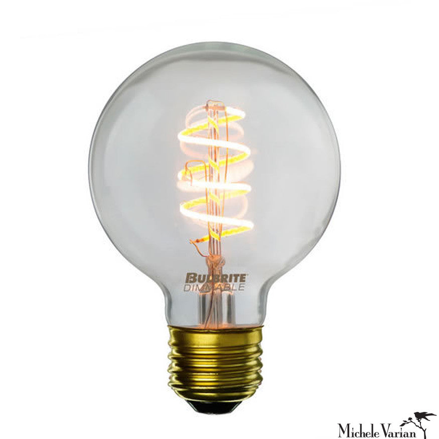 LED Antique Curved Filament E26 Base G25 Bulb