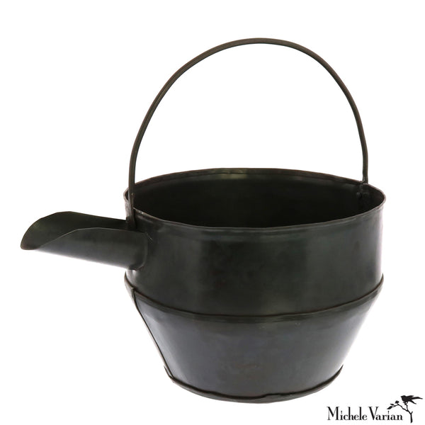 Black Metal Watering Can Garden Tool