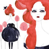 MV x Anja Kroencke, Girls With Red Hair Framed Print 12x16