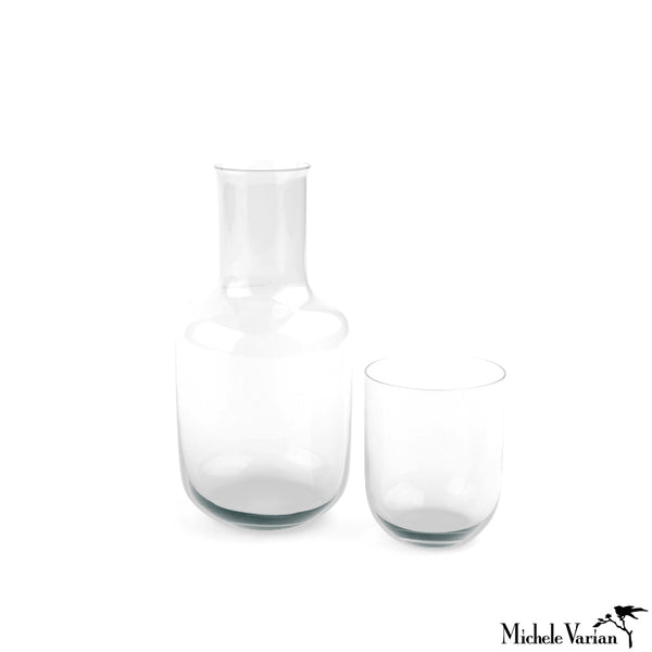 Glass Bedside Carafe Set Clear