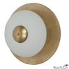 Convex Glass and Brass Discus Light