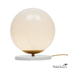Marble And Glass Globe Table Light Small