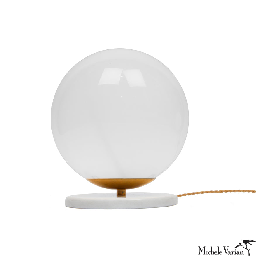 5a4ca4fcfaf Glass and Marble Globe Table Light Small – Michele Varian Shop