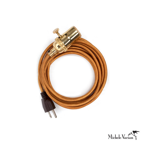 Brass Cord Kit With Gold Cord